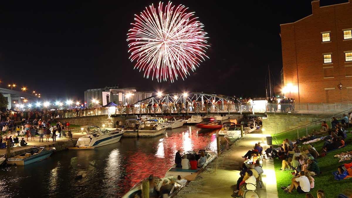 Fireworks light up Canalside