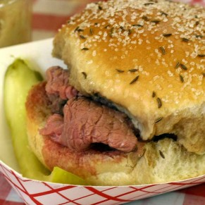 The classic Beef on Weck