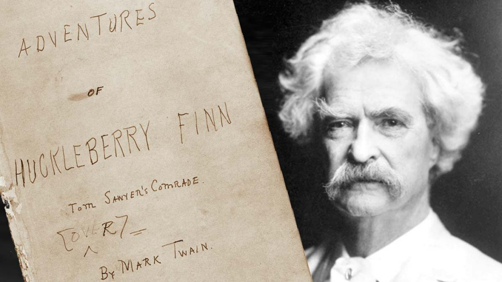 Huckleberry Finn manuscript at the Mark Twain Room