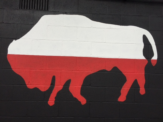 The bison is even on the exteriors of our social halls, like the Polish Cadets at Grant and Amherst Streets.