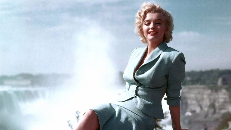 Marilyn Monroe on the <br>set of