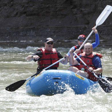 Kayakers in Zoar Valley