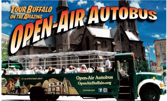 Open-Air Autobus, with awning, rain or shine