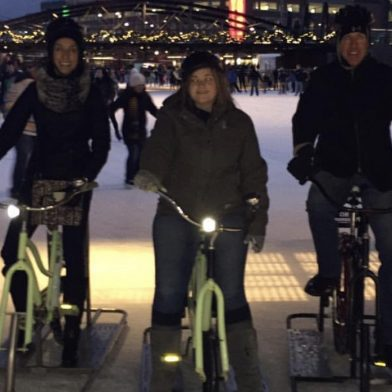People riding Ice Bikes