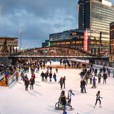 Ice rink at the canalside