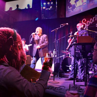 Band playing at Sportsmen's Tavern
