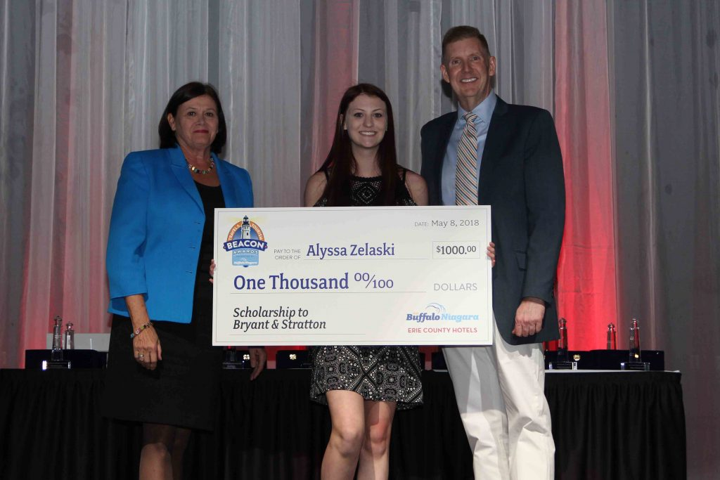 Alyssa Zelaski, Hospitality Scholarship receipient