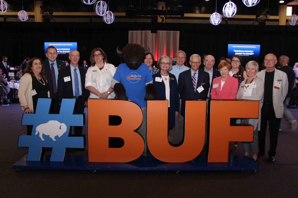 Explore Buffalo, Tourism Executive of the Year, Ron Eaton Volunteer of the Year and friends