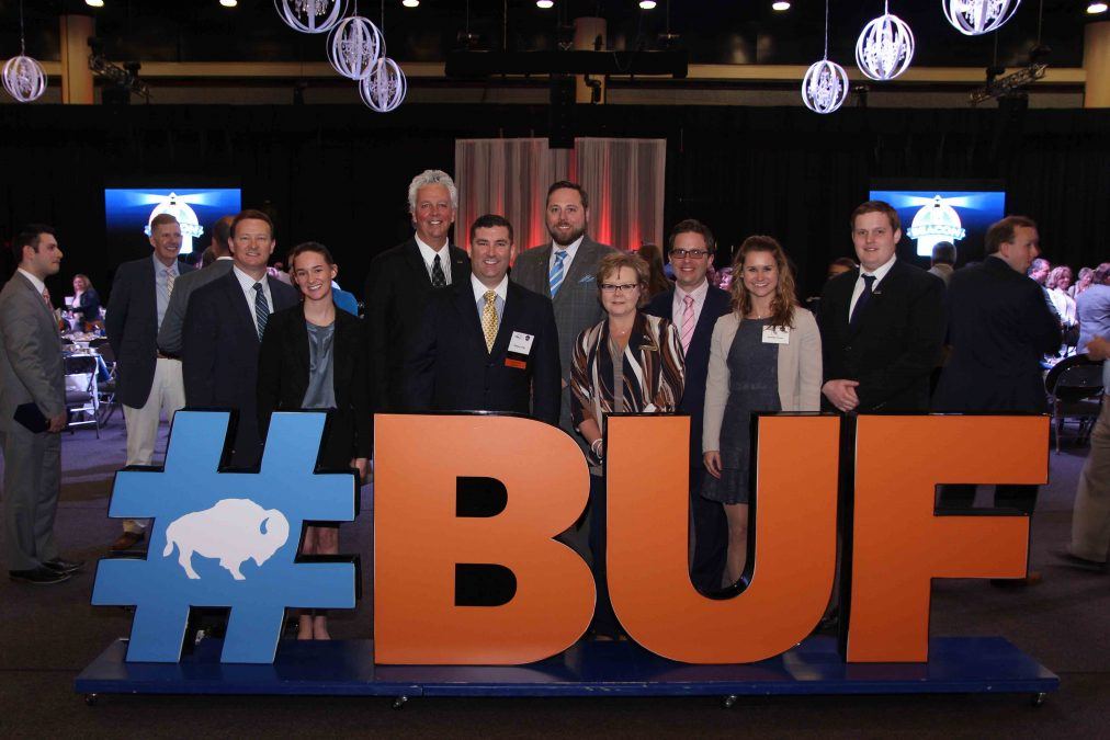 General Manager of the Year Tom Long and staff from The Westin Buffalo