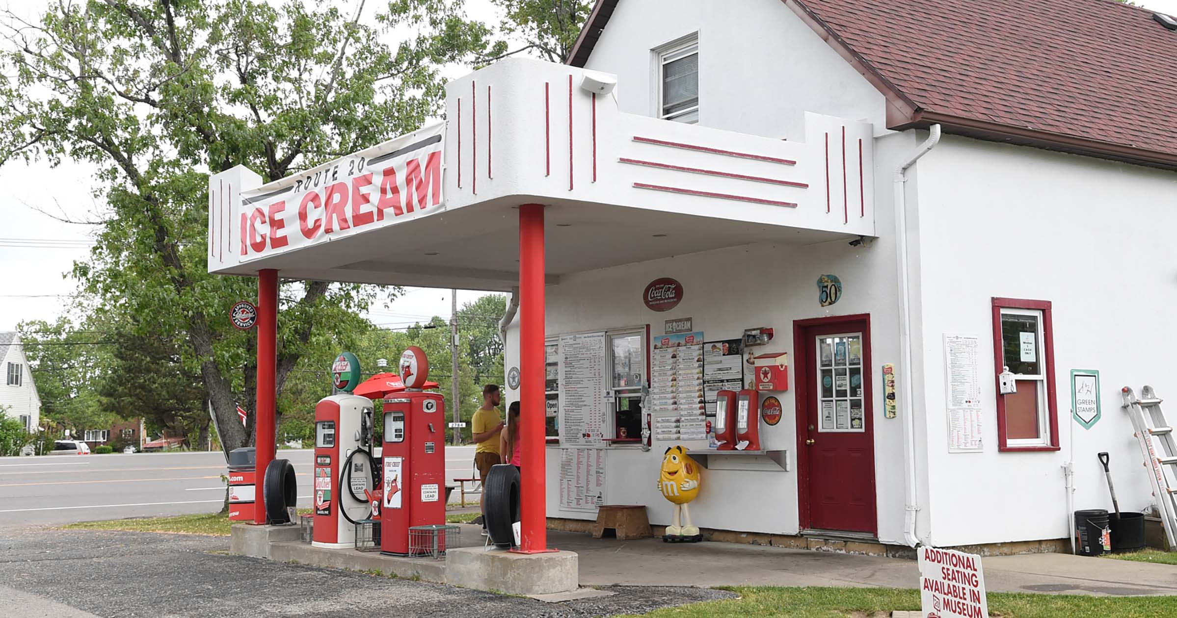 This Ice Cream Stand Scoops from a Vintage Gas Station - Visit Buffalo  Niagara