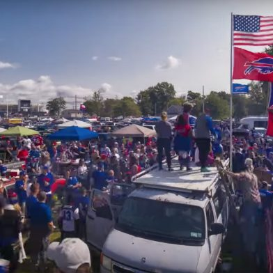 A tailgate at a Bills game