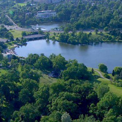 Arial view of Delaware Park