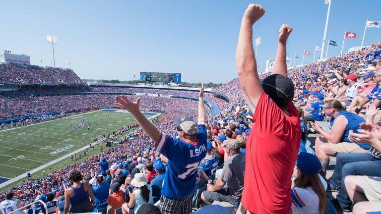 Buffalo Bills fans at <br>New Era Field