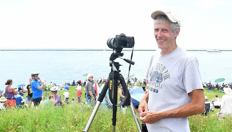 Douglas Worboys taking photos