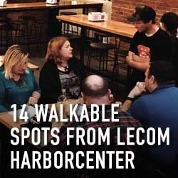 14 walkable spots from lecom harborcenter