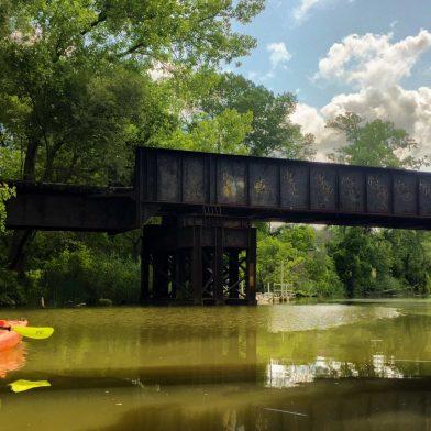 Kayaker in Ellicott Creek
