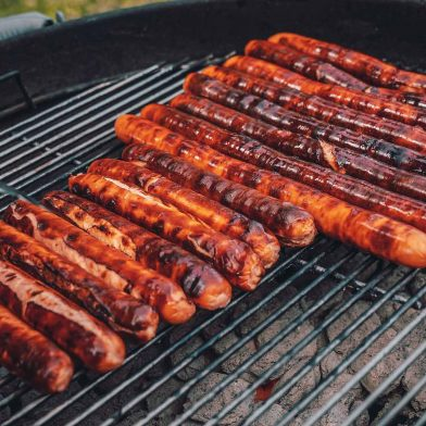 Sahlen Hot Dogs on a Grill