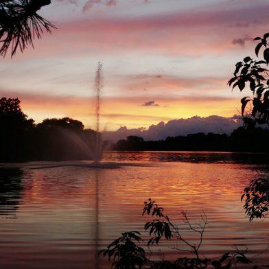 Sunset at Hoyt lake
